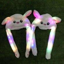 Звезда с тем же абзацем с ушами будет перемещать шляпу флэш кролик шапка уши кролика шапка милый кролик подушка безопасности шапка игрушка