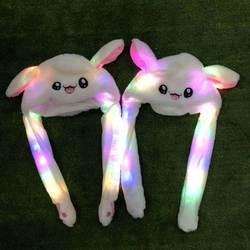 Звезда с тем же абзацем ушибные уши будет перемещать шляпу мигающий кролик шапка уши кролика шапка милый кролик подушка безопасности