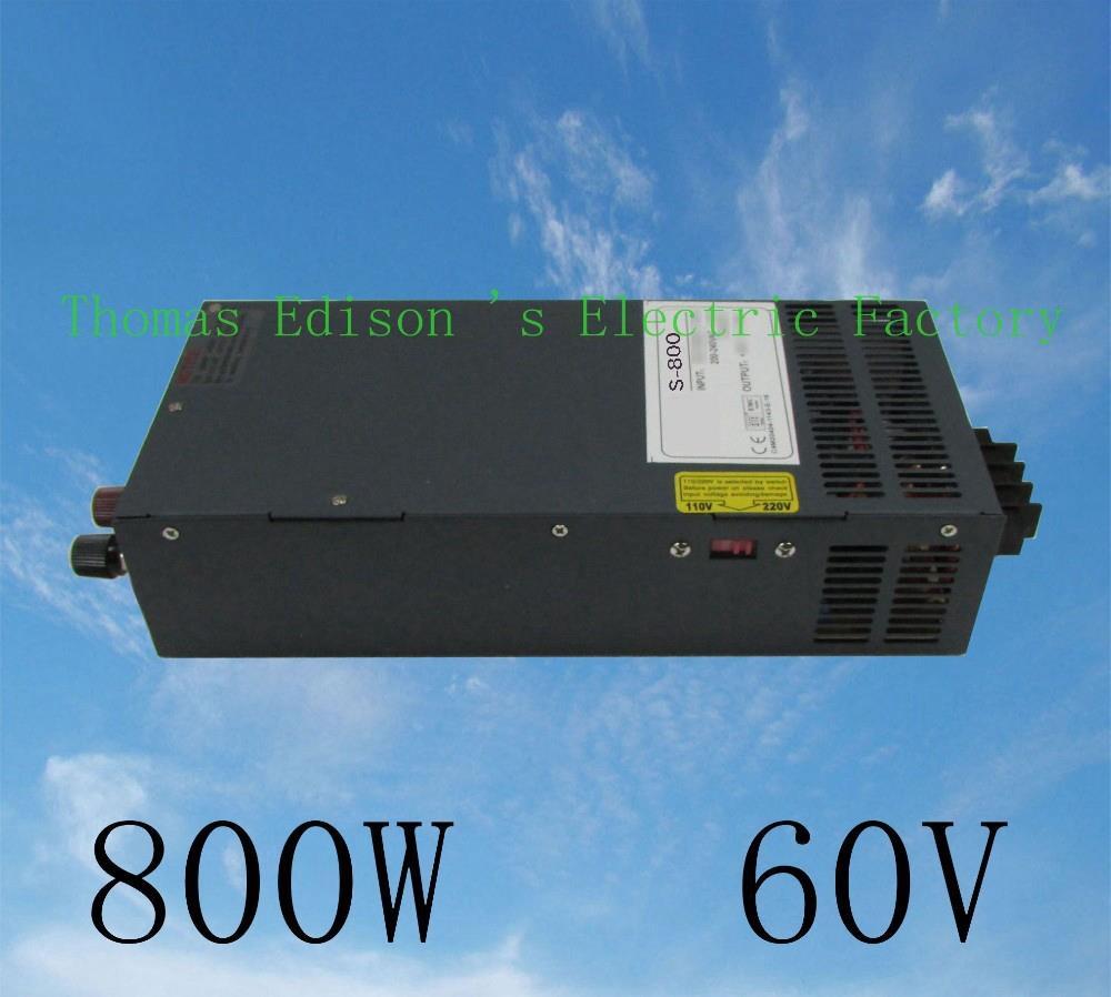 DIANQI power suply 60v 800w 60v 13a power supply input 110v 220v output 60v S-800-60 ac to dc power supply ac dc converter cps 6011 60v 11a digital adjustable dc power supply laboratory power supply cps6011