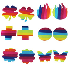 LGBT Colorful Breast Nipple Stickers For Females