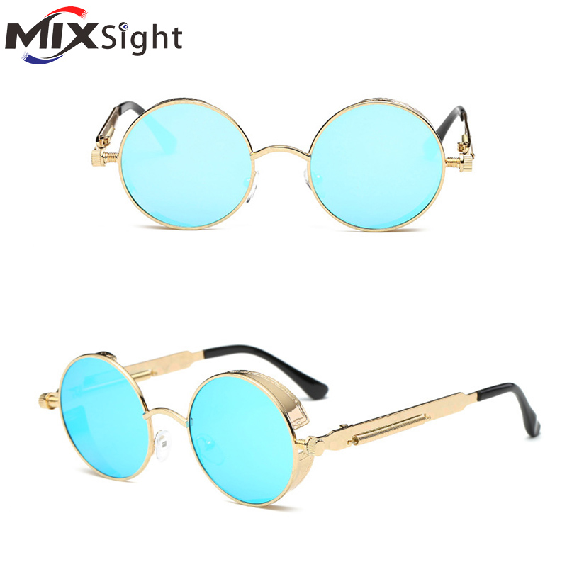 Round Metal Cycling Eyewear Protective Antifog Glasses For Work Men Safety Welding Glasses Brand Designer Retro Vintage UV400 2016 new retro fashion matte frame glasses brand men woemn designer oculos de sol cute round sunglasses n65