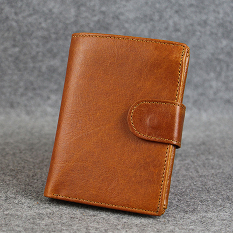 NEEWEEKEND 2018 Vintage Genuine Leather Oil Cowhide Thin Short Solid Hasp Photo Coin Cash Card Wallet Purse Holder for Man simline fashion genuine leather real cowhide women lady short slim wallet wallets purse card holder zipper coin pocket ladies