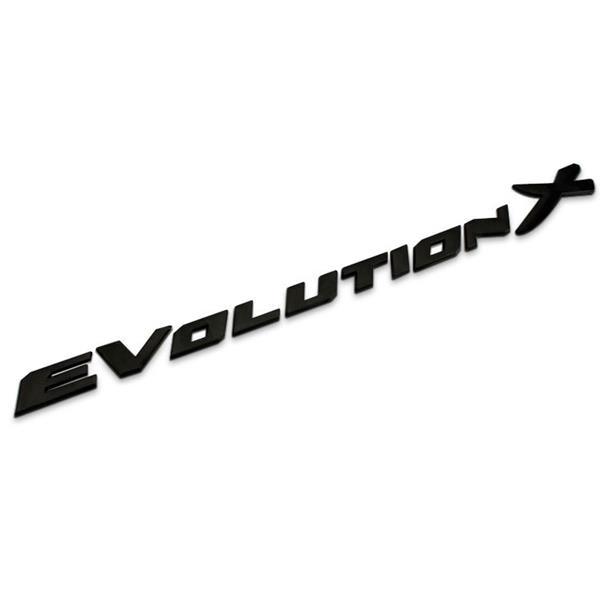 Free shipping 3D Black Evolution X Emblem Rear Back Badge Decal Sticker For MITSUBISHI Lancer