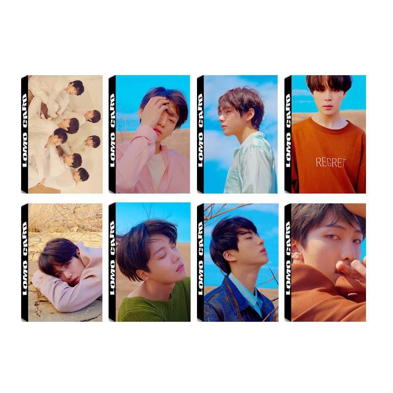 KPOP Bangtan Boys FAKE LOVE YOURSELF Tear New Album LOMO Cards K-POP Self Made Paper Photo Card HD Photocard LK577