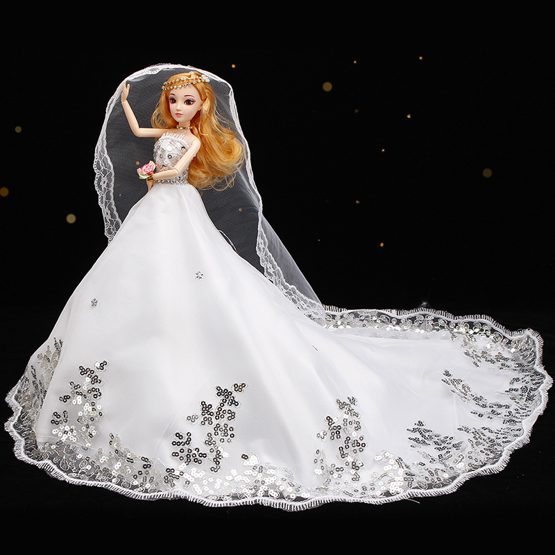 Online Shop Varies Fashion Car Furnishing Doll Wedding Dress Barbie Feathers Toys Best Gift For Kids 018