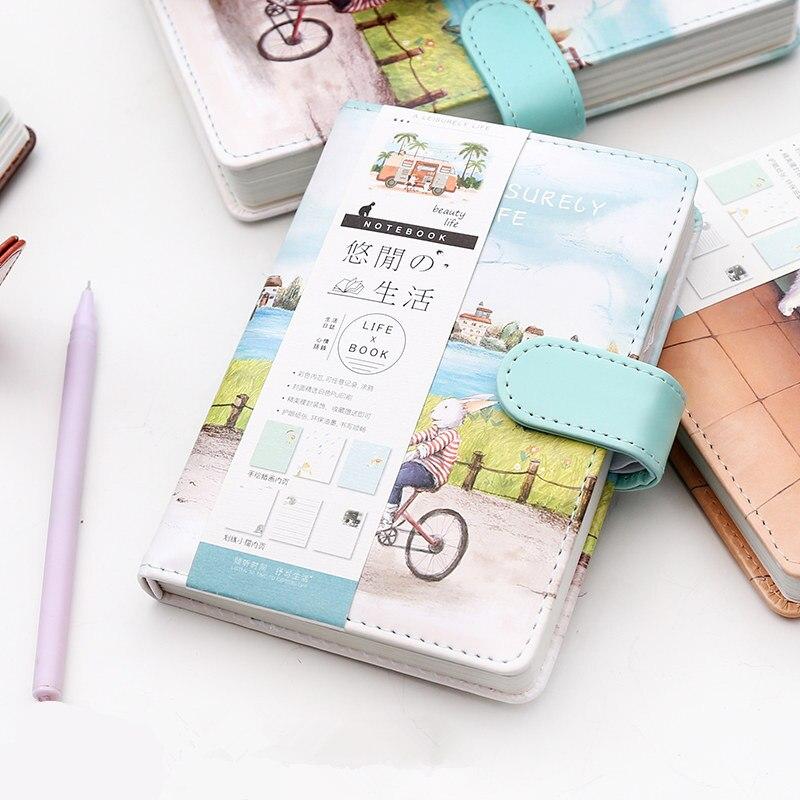 """""""gemütlichen Leben"""" Faux Leder Tagebuch Travel Journal Nette Studie Notebook Memo Gefüttert Blank Papiere Schreibwaren Geschenk Kaufen Sie Immer Gut"""