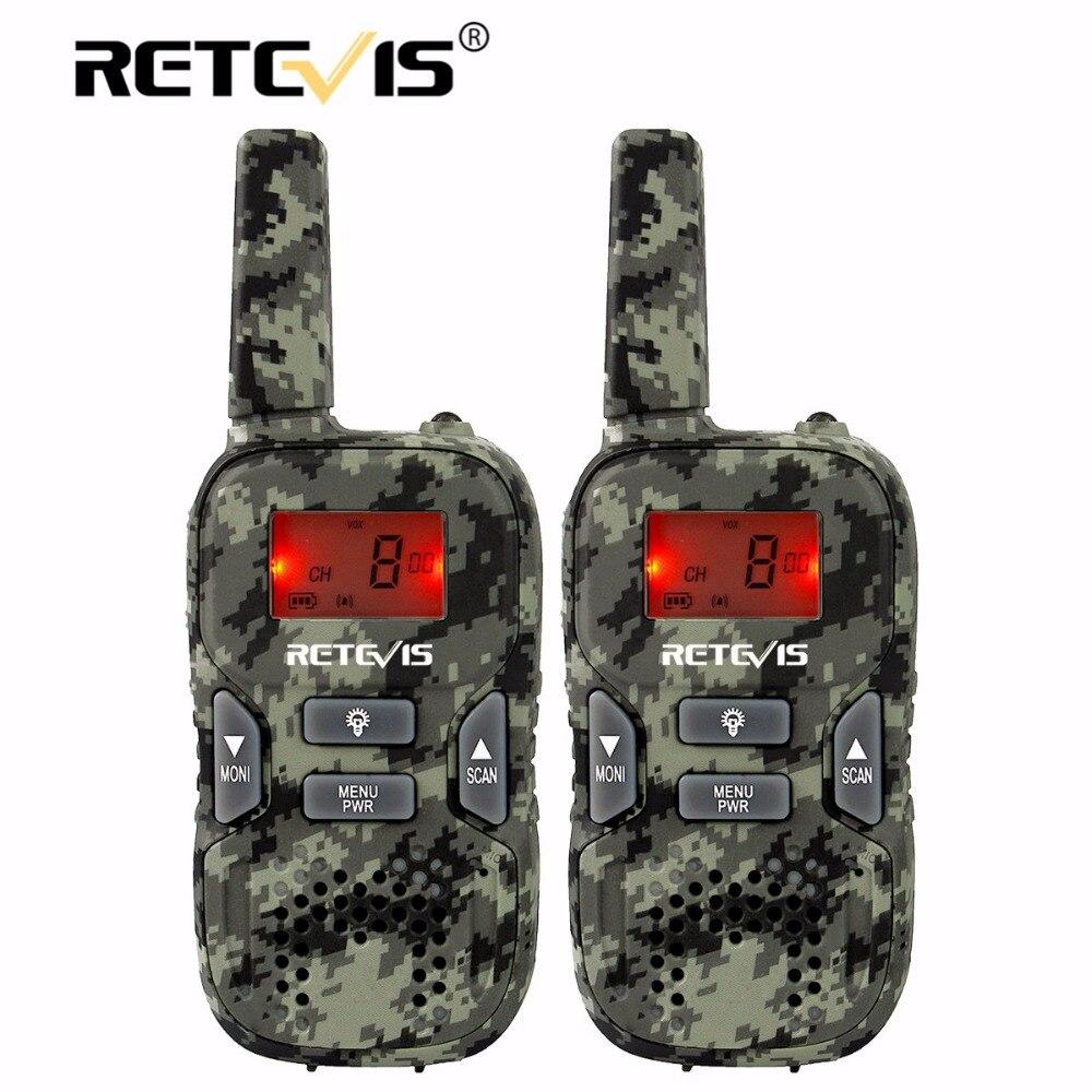 2 stücke Retevis RT33 Mini Walkie Talkie für Kinder Kind Hf Radio 0,5 Watt PMR FRS/GMRS 8/22CH VOX PTT Taschenlampe LCD Display PMR446 Geschenk