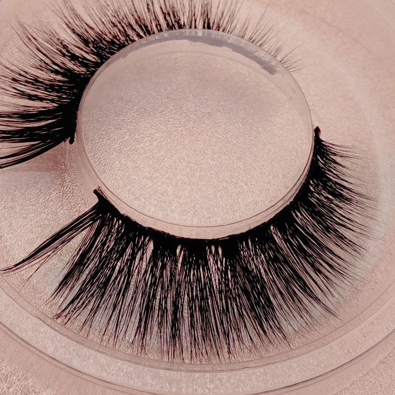 SDSP 1 pair 3d mink false eyelashes natural long hair makeup lashes winged fake volume lash faux cilios