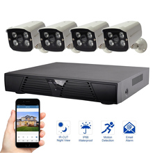 4CH Security System 1080P IP Camera Video Surveillance System Night Vision Outdoor Waterproof Security Camera Kit