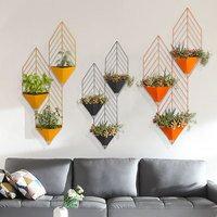 European creative living room wall decoration wall decoration wall decoration wall hanging decoration plant flower stand