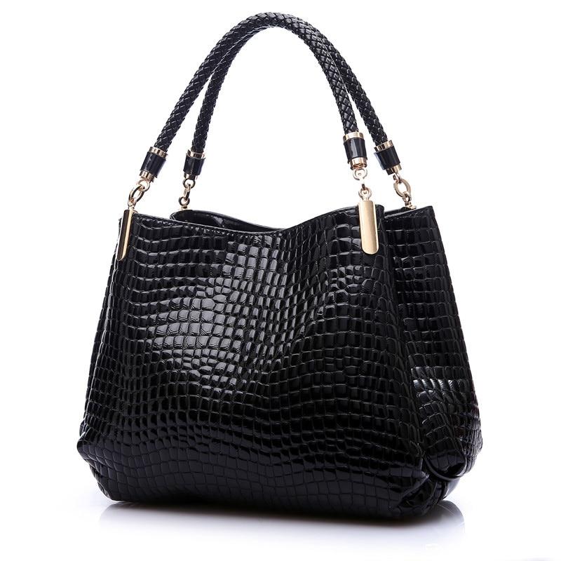 2017 Alligator Luxury Handbags Women Bags Designer Crocodile PU Leather Fashion Sequined Shoulder Bag Sac a Main Marque Bolsas