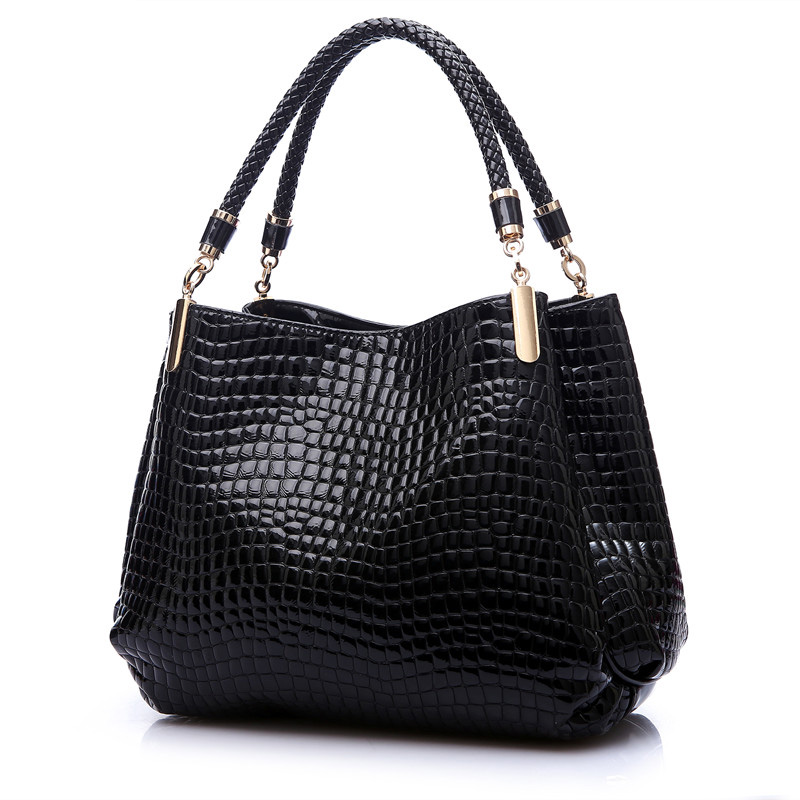 2017 Alligator Luxury Handbags Women Bags Designer Crocodile PU Leather Fashion Sequined Shoulder Bag Sac a Main Marque Bolsas