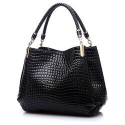 2017 Alligator luxe sacs à Main femmes sacs Designer Crocodile PU cuir mode Sac à bandoulière pailleté Sac a Main Marque Bolsas