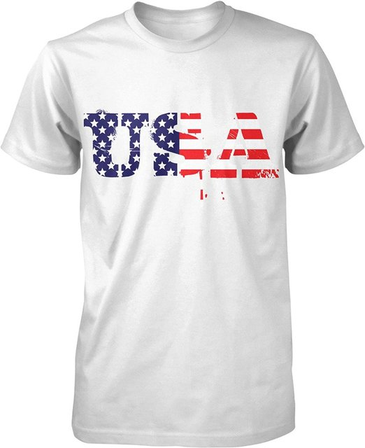 new design cotton male tee shirt designing usa red white blue us flag - American Pride T Shirt