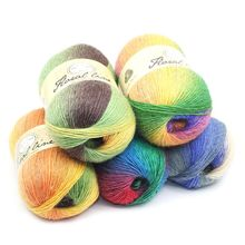 100G Soft Worsted Yarn Rainbow Gradient Colors DIY Baby Knitting Wool Shawl Scarf Crochet Thread Supplies 1 PCS
