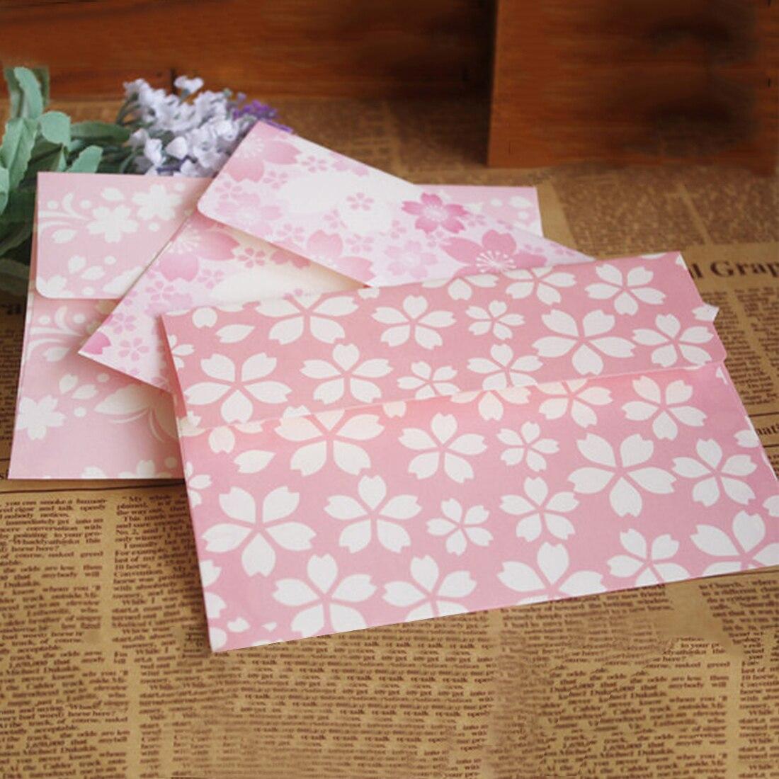 FangNymph Exquisite Cherry Blossoms Envelope Letterhead Letter Paper Elegant Floral Envelopes Love Letters 17.5*12.5cm