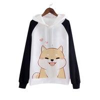 Japanese Doge Kawaii Muco Sweatshirts Pullovers Harajuku Coat Clothes Cute Women Hoodies