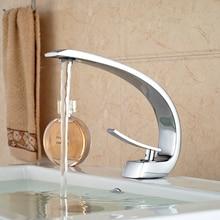 Роскошные ванной бассейна кран сосуд раковина смеситель одной ручкой хромированная отделка с горячей холодной шланг