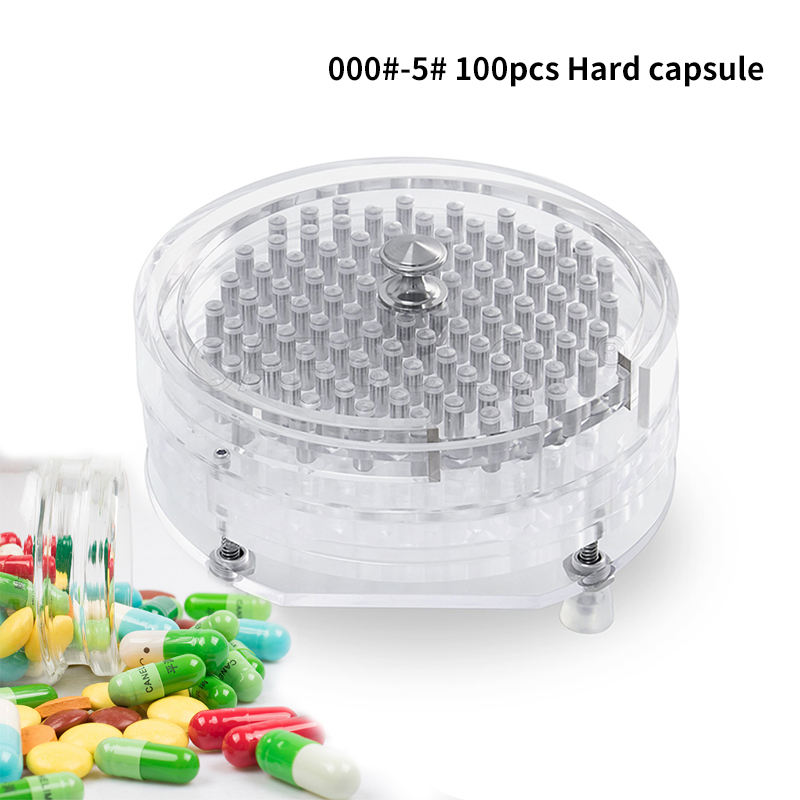000#-5#100 Hole 5 Minutes / Eycle Manual Capsule Filling Machine / Medicine Capsule DIY Manufacturers Pharmaceutical Pellets