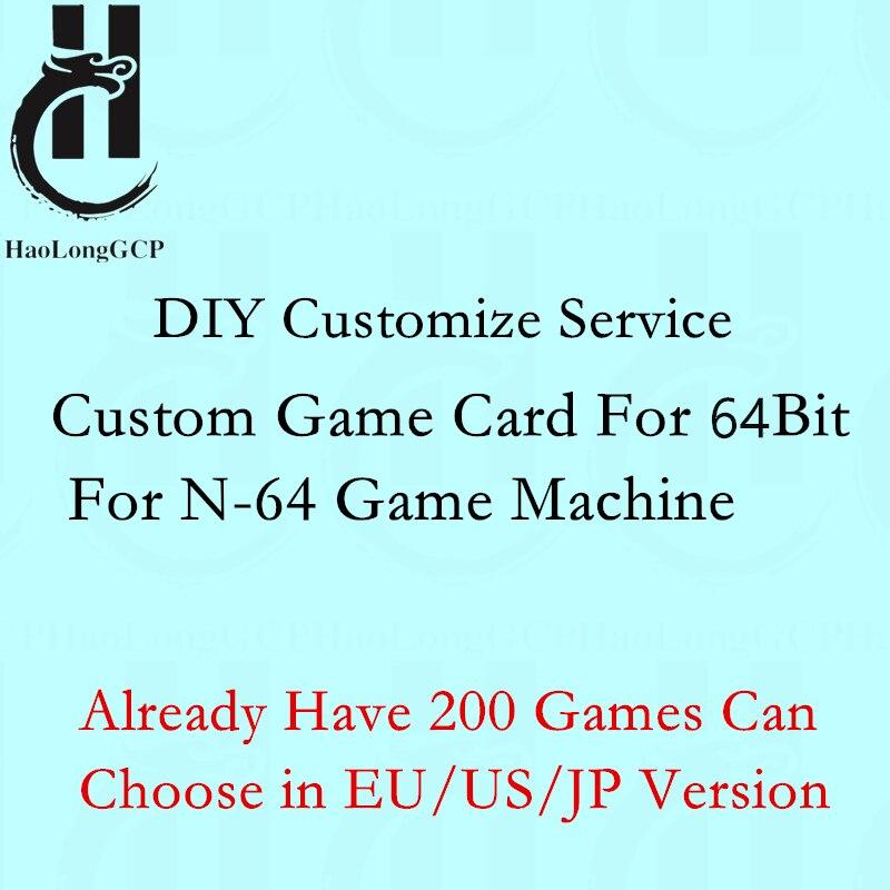 Carte de jeu personnalisée pour Console de jeu N64 bricolage cartouche pour console 64 bits avec carte mémoire 8 go choisissez 200 jeux en version EU/US