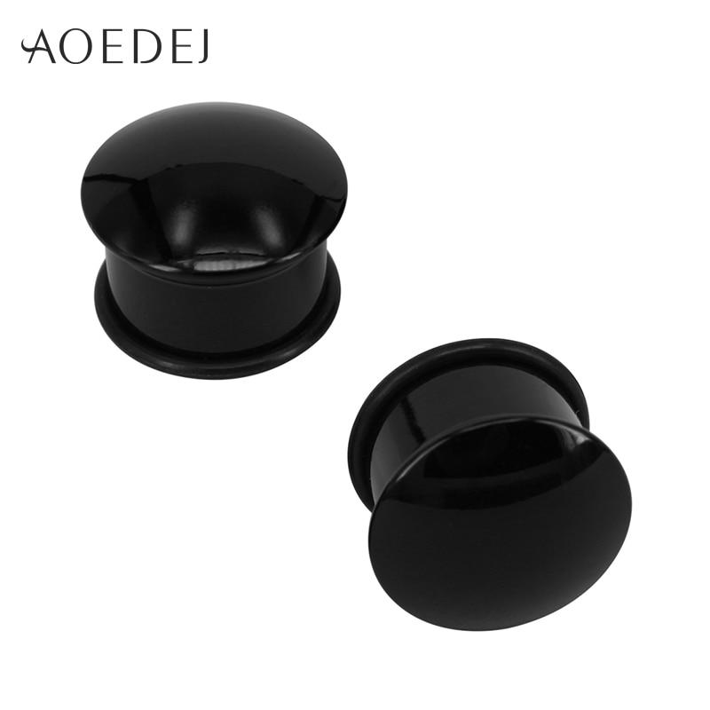 AOEDEJ 5-20mm Black Acrylic Ear Plug Piercing Men Women 3 Colors Ear Stretchers Plugs And Tunnels Body Piercing Tunnels Jewelry