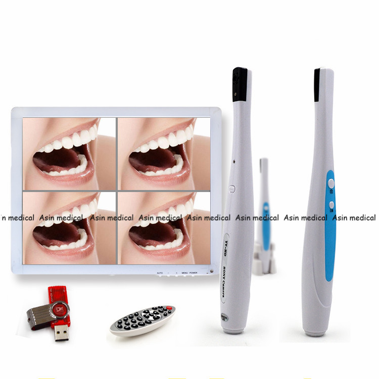 New Arrival Dental Equipment & Instrment 5.0 Mega Pixels Intraoral Camera Endoscope + 17 inch LED Screen Imaging System new arrival dental intraoral camera can page up down and delete wifi transfero computer save picture into u disk