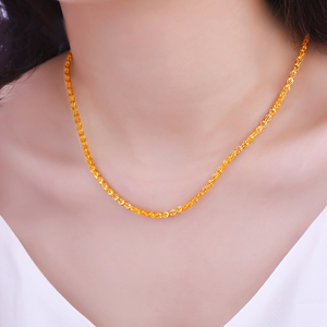 Image 5 - JLZB 24K Pure Gold Necklace Real AU 999 Solid Gold Chain Smart Beautiful Upscale Trendy Classic  Fine Jewelry Hot Sell New 2020