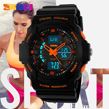 SKMEI Dual Display Digital Watch Women Chronograph Sports Wrist Watches Ladies LED Wristwatch Relogio Feminino Clock Female 1008
