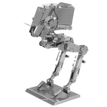 Star Wars At-st Fun 3d Metal Diy Miniature Model Kits Puzzle Toys Children Educational Boy Splicing Science Hobby Building