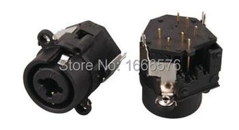 """wholesale 50 pcs  FEMALE SOCKET, XLR-1/4"""" JACK With lock  - 407"""