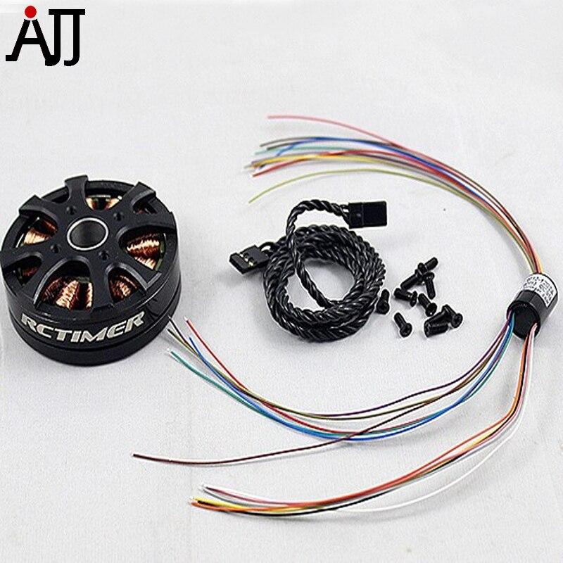 Rctimer GBM5208 12N14P DSLR Gimbal Brushless Motor With Slip Ring GBM5208-SR цена