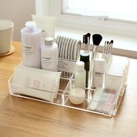 9 Lipstick Holder Display Stand Clear Acrylic Cosmetic Organizer Makeup Case Sundry Storage Makeup Organizer Organizador