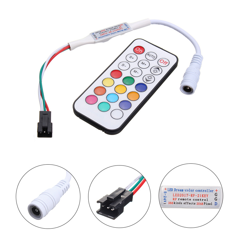 Smuxi 14/21 Schlüssel led Mini Traum Farbe IR Controller für WS2812 ...