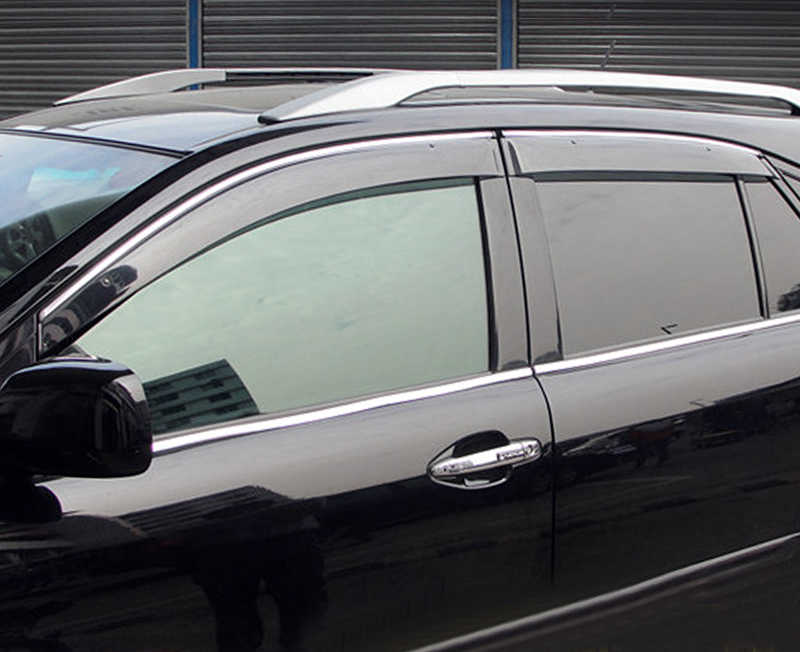 For Lexus RX 350 2010 2011 2012 2013 2014 2015 Window Visor Rain Sun Shield Guard Deflector Trim 4pcs Car Styling