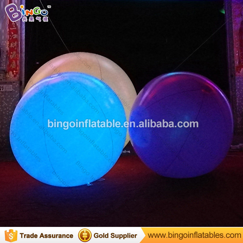Air sealed 2 Meters dia LED lighting inflatable balloon color change white color blow up ball for event light-up toy ao058b 2m white pvc helium balioon inflatable sphere sky balloon for sale attractive inflatable funny helium printing air ball