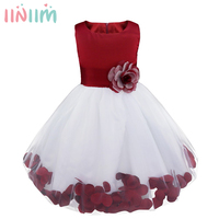New Year Chirstmas Kids Girl Baby Dress Rose Baby Girl Princess Clothing Infant Dress With Bow