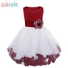 Iiniim 키즈 여자 여름 드레스 웨딩 vestidos 드레스 하이틴 생일 유아 드레스 의상 여름 파티 드레스