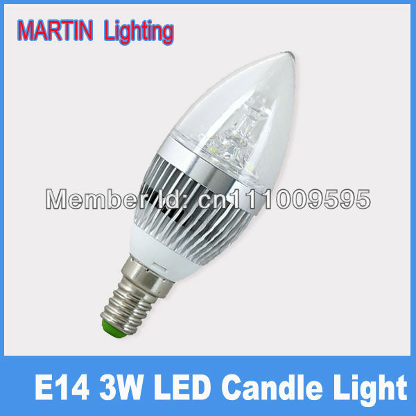E14 3w LED candle bulbs smd high power 350lm crystal Chandeliers candle lighting lamp
