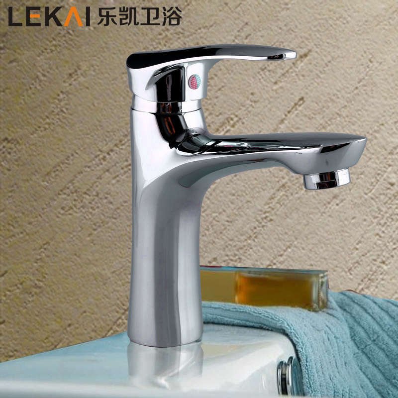 New hot and cold basin faucet lift bathroom cabinet water dragon wear high temperature wash basin