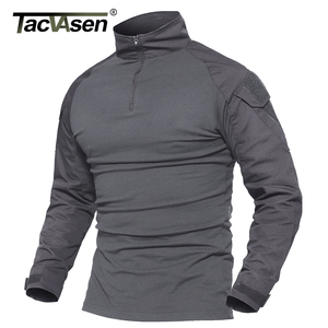 Image 1 - TACVASEN Camouflage T shirts Men Army Combat Tactical T Shirt Male Airsoft Military Clothing Long Sleeve Cotton Assault T Shirts