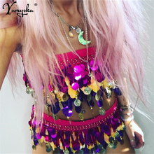 Sexy Bling Colorful Sequin Summer dress women Strapless Bandage Beach bodycon Luxury night club party dresses vestido New