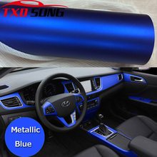 50CM * 200CM/Lot niebieski metaliczny matowy Vinyl wrap Car Wrap Chrome folia winylowa matowa niebieski matowy film pojazdu owijania naklejki folia
