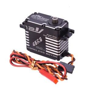Image 4 - JX CLS 12V7346 46KG 12V סרוו 180 מעלות HV גבוהה דיוק פלדת ציוד דיגיטלי Coreless סרוו CNC אלומיניום פגז סרוו