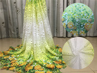 Free Shipping By DHL Multi Colour High Quality Water Soluble African Cord Lace Guipure Lace Fabric