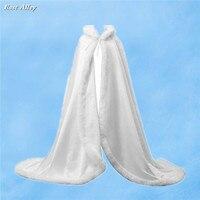 Weiß Formales Langes Braut Cape Hochzeit Mantel Ganzkörperansicht Mittelalterlichen Cape Vertuschen