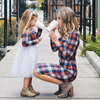 Mother Daughter Dresses Spring Autumn Girl Tutu Dress Outfits Outfits Fashion Mom And Kids Red Plaid