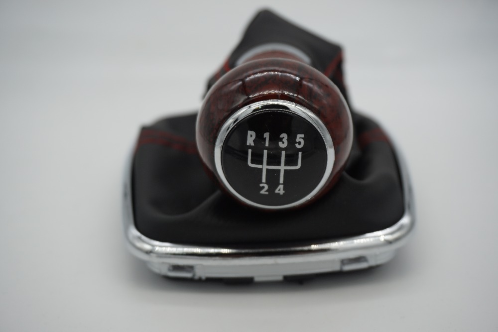 Gear Shifter 4 Speed : Mm wood grain gear shift knob lever shifter gaitor boot