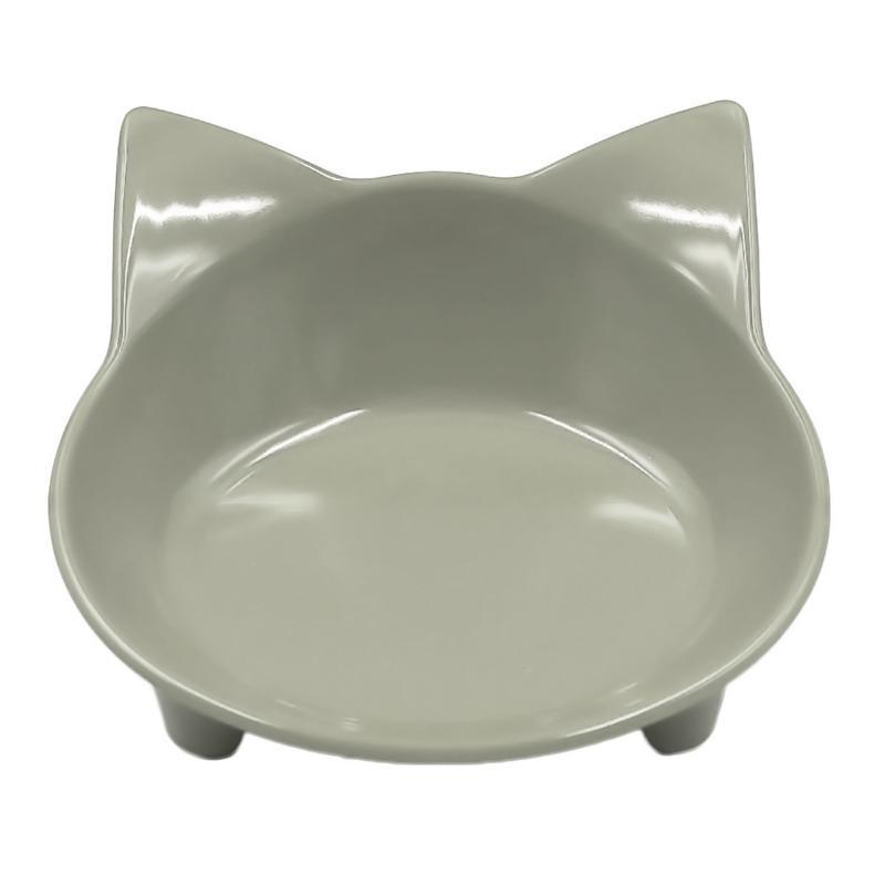Автомобильная чаша, 8 цветов, кошачья форма, посуда для домашних питомцев, миска для домашних питомцев, кормушка для кошек и собак, посуда для маленьких собак, миска для воды, аксессуары для домашних животных - Цвет: Gray