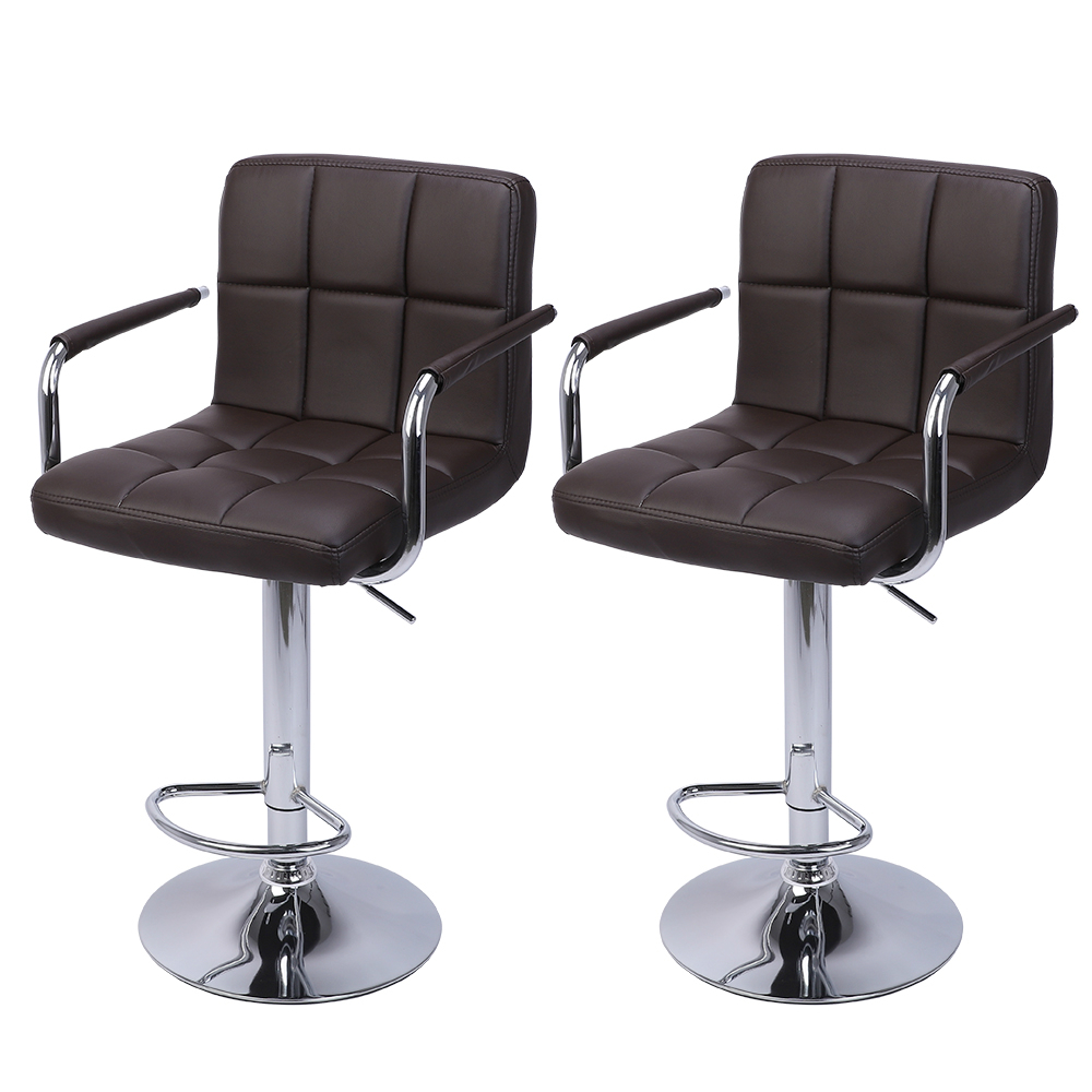 US $81.99 |2Pcs 60 80cm Swivel Kitchen Bar Stool Chair with Cushion and  Armrest Counter Height Swivel Stool Adjustable Pub Stool US Stock-in Bar ...