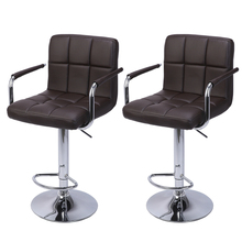 2Pcs 60-80cm Swivel Kitchen Bar Stool Chair with Cushion and
